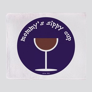 MOMMY'S SIPPY CUP (BLUE) Throw Blanket