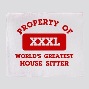 Property of House Sitting Throw Blanket