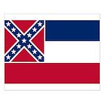 Mississippi State Flag Small Poster