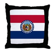Missouri State Flag Throw Pillow
