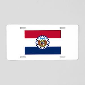 Missouri State Flag Aluminum License Plate