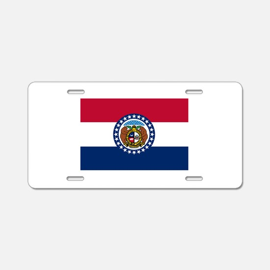 Missouri State Flag Aluminum License Plate