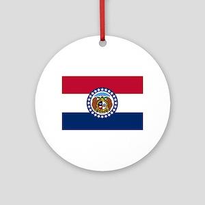 Missouri State Flag Ornament (Round)