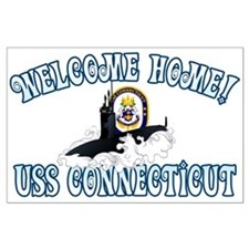 Welcome USS Connecticut! Large Poster