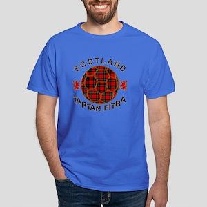 Scotland Tartan Fitba Red Dark T-Shirt
