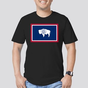 Wyoming State Flag Men's Fitted T-Shirt (dark)