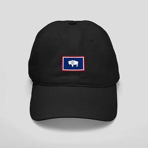 Wyoming State Flag Black Cap
