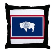 Wyoming State Flag Throw Pillow