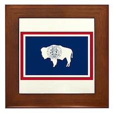 Wyoming State Flag Framed Tile