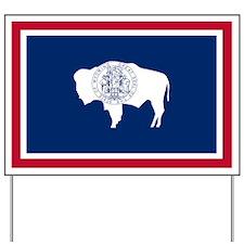 Wyoming State Flag Yard Sign