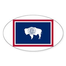 Wyoming State Flag Sticker (Oval 50 pk)