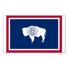 Wyoming State Flag Sticker (Rectangle 50 pk)
