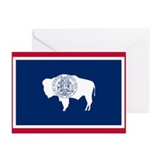 Wyoming State Flag Greeting Cards (Pk of 20)