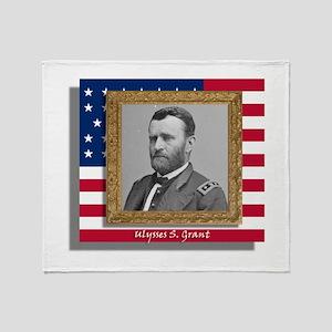 Ulysses S. Grant Throw Blanket