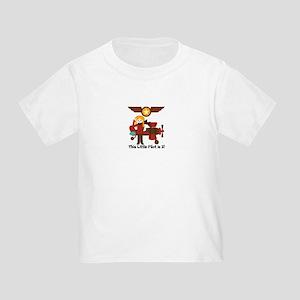 Blond Girl Pilot Customized Toddler T-Shirt