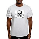 Skull & Cross Bones Ash Grey T-Shirt