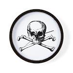 Skull & Cross Bones Wall Clock