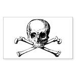 Skull & Cross Bones Sticker (Rect.)