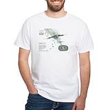 Airborne Mens Classic White T-Shirts