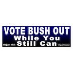 Vote Bush Out Bumper Sticker