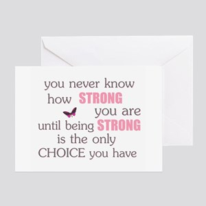 Cancer greeting cards cafepress never know how strong greeting card m4hsunfo