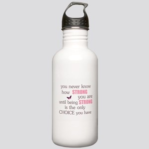 Never Know How Strong Stainless Water Bottle 1.0L