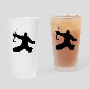 Goalie Drinking Glass