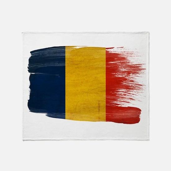 Romania Flag Throw Blanket