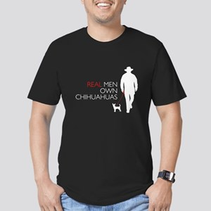 Real Men Own Chihuahuas Men's Fitted T-Shirt (dark