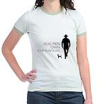 Real Men Own Chihuahuas Jr. Ringer T-Shirt
