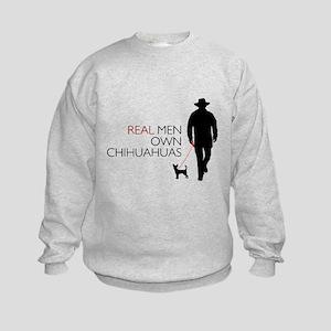 Real Men Own Chihuahuas Kids Sweatshirt