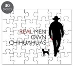 Real Men Own Chihuahuas Puzzle