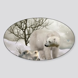 Awesome polar bear Sticker