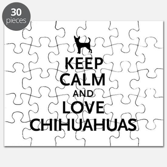 Keep Calm Chihuahuas Puzzle