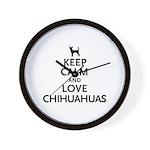 Keep Calm Chihuahuas Wall Clock