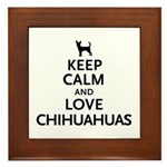 Keep Calm Chihuahuas Framed Tile