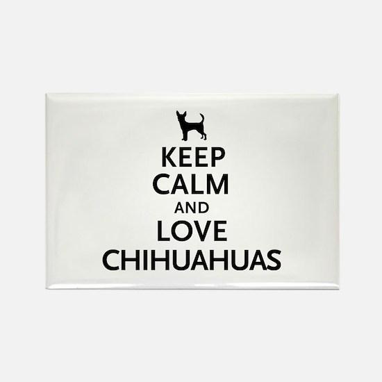 Keep Calm Chihuahuas Rectangle Magnet