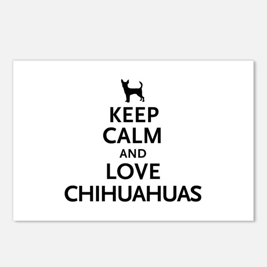 Keep Calm Chihuahuas Postcards (Package of 8)