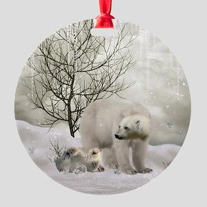 Awesome polar bear Ornament