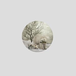 Awesome polar bear Mini Button
