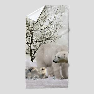 Awesome polar bear Beach Towel