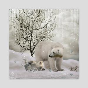 Awesome polar bear Queen Duvet