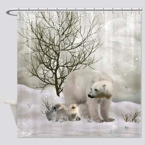 Awesome polar bear Shower Curtain