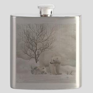 Awesome polar bear Flask