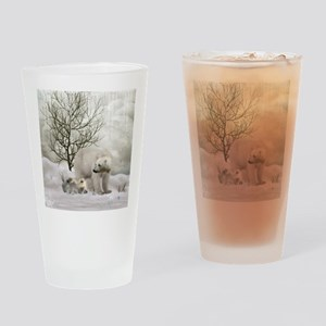 Awesome polar bear Drinking Glass