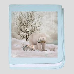 Awesome polar bear baby blanket