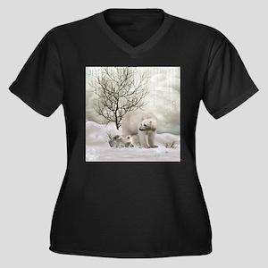 Awesome polar bear Plus Size T-Shirt
