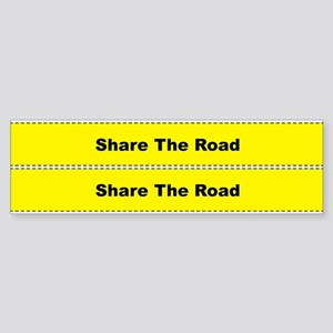 Share The Road Bicycle Frame Sticker