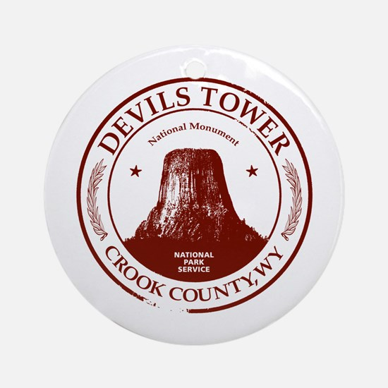 Devils Tower Ornament (Round)