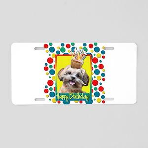 Birthday Cupcake - ShihPoo Aluminum License Plate